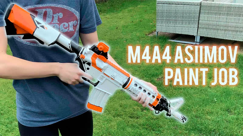 M4A4 Asiimov Paint Job Airsoft
