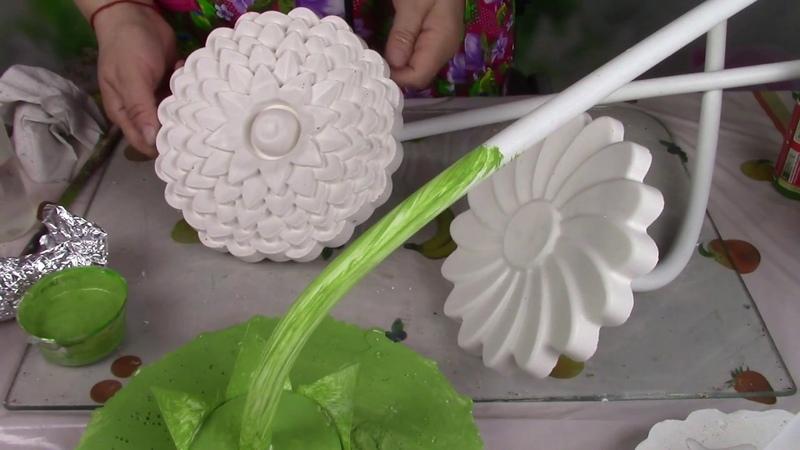 Большие цветы из гипса 2 часть ХоббиМаркет