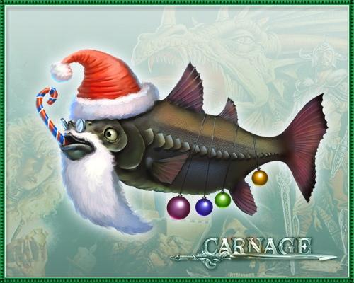 Новый год рыбалка открытка