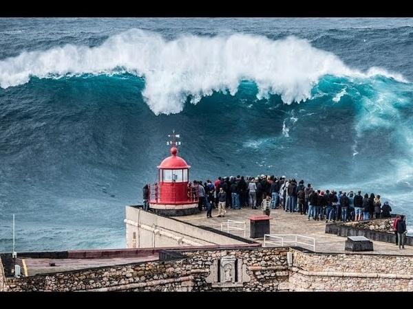 Самые большие волны в мире: Назаре Португалия