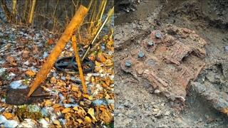 Миномет - лопата , схрон сапера и другие интересные находки с разведки по войне.