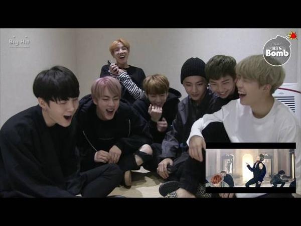 [BANGTAN BOMB] '피 땀 눈물' MV Reaction by BTS - BTS (방탄소년단)