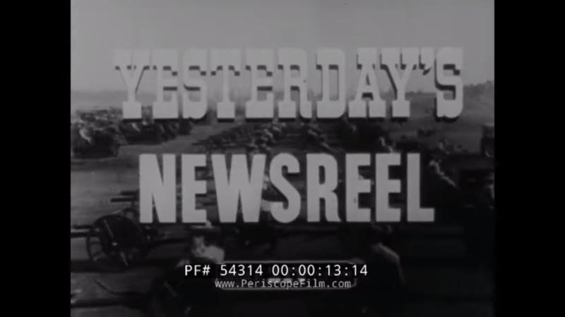 YESTERDAY'S NEWSREEL PRESIDENT HERBERT HOOVER MAURICE RAVEL 1939 NY RANGERS HOCKEY GAME 54314