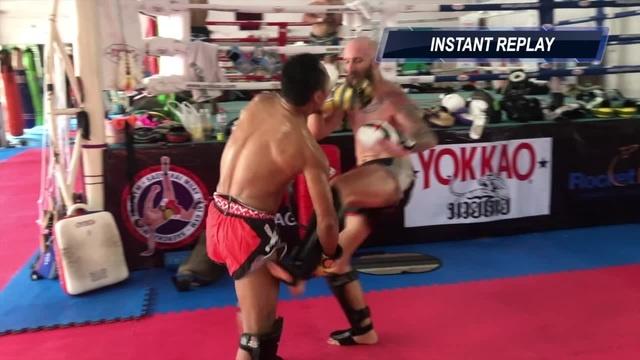 Тайский Бокс: подсечка от Саенчая (sweep)