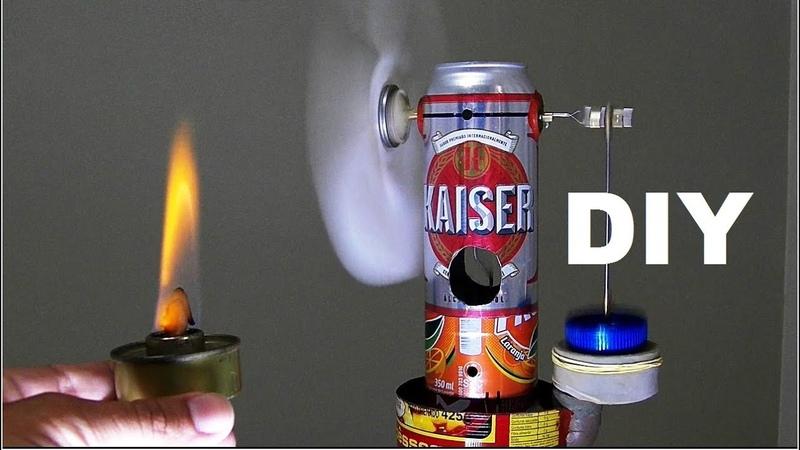 Faltou luz e faz calor Faça um ventilador caseiro sem eletricidade TUTORIAL de motor Stirling DIY