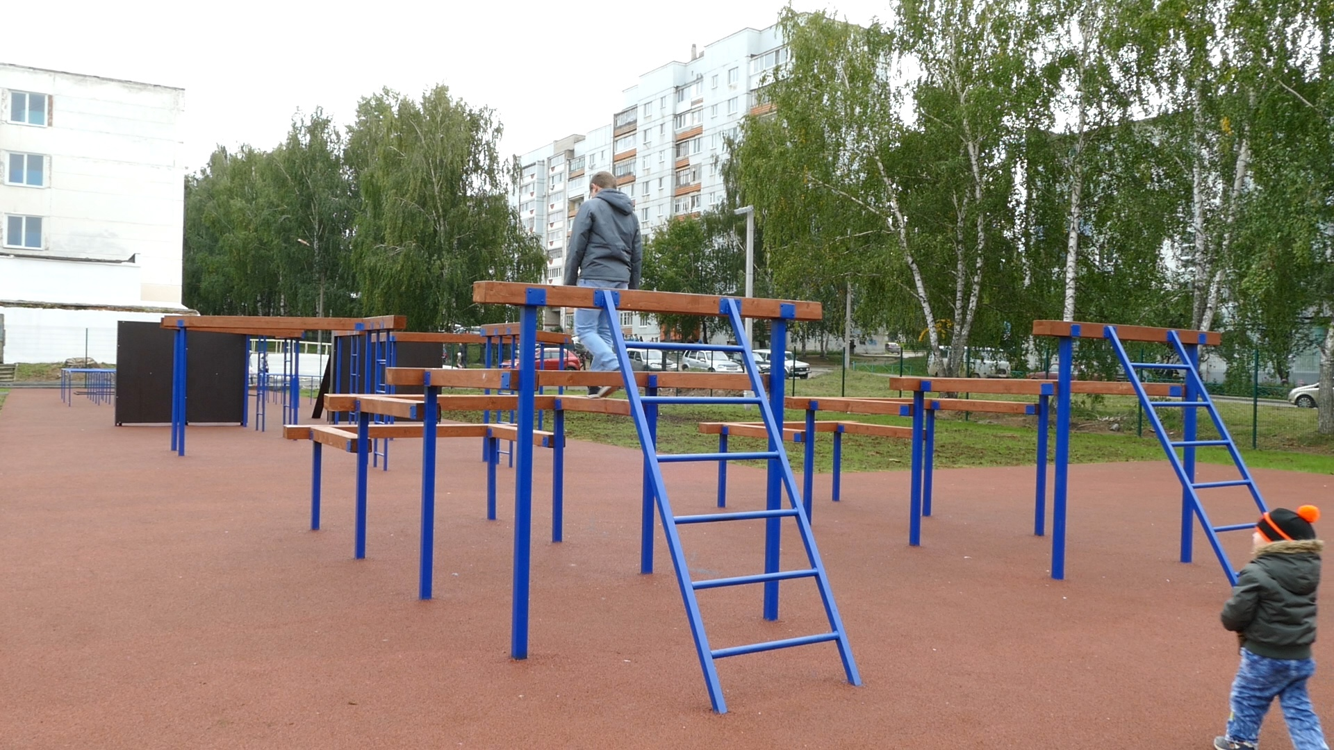 открытие стадиона школы №1, чайковский район, 2019 год