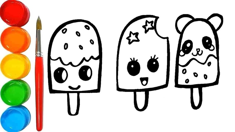 Cara Menggambar Ice Cream yang lucu Draw cute things Bong Learning TV