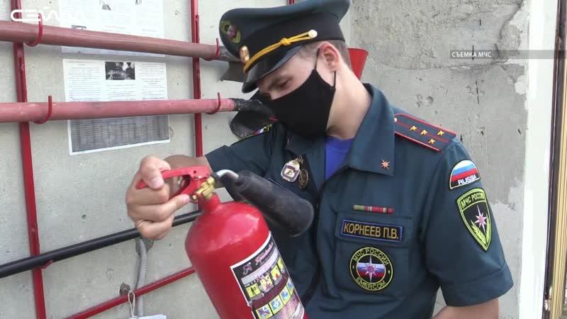 Пожарные инспекторы проверяют курские садовые товарищества