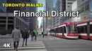 Financial District Walk Downtown Toronto on a weekday afternoon 4K