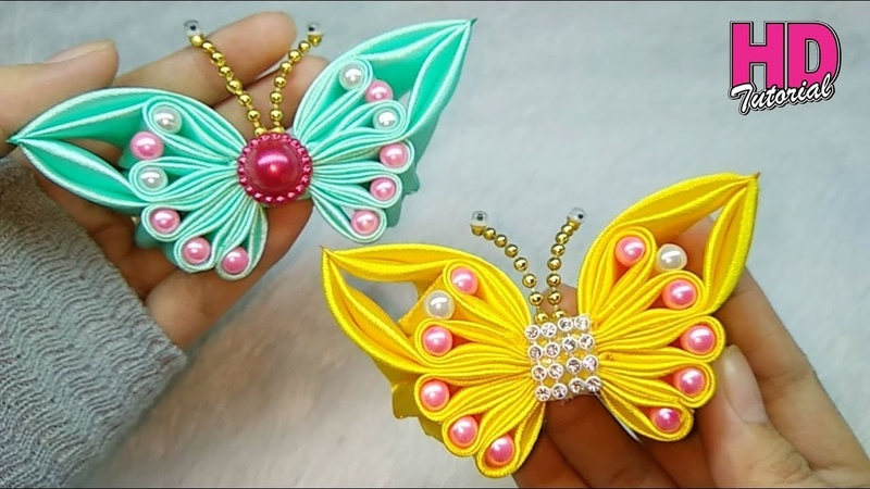 DIY || bros kupu-kupu part 2 || || Butterfly || how to make satin ribbon flower || HD TUTORIAL