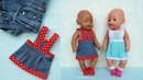 Сарафан платье из джинсов для куклы Беби Бон . Clothes for Baby Bon dolls