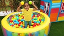 Esma's new inflatable play pool