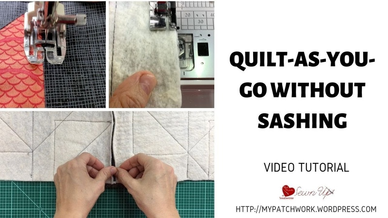 Quilt as you go without sashing video tutorial Turnabout patchwork QAL