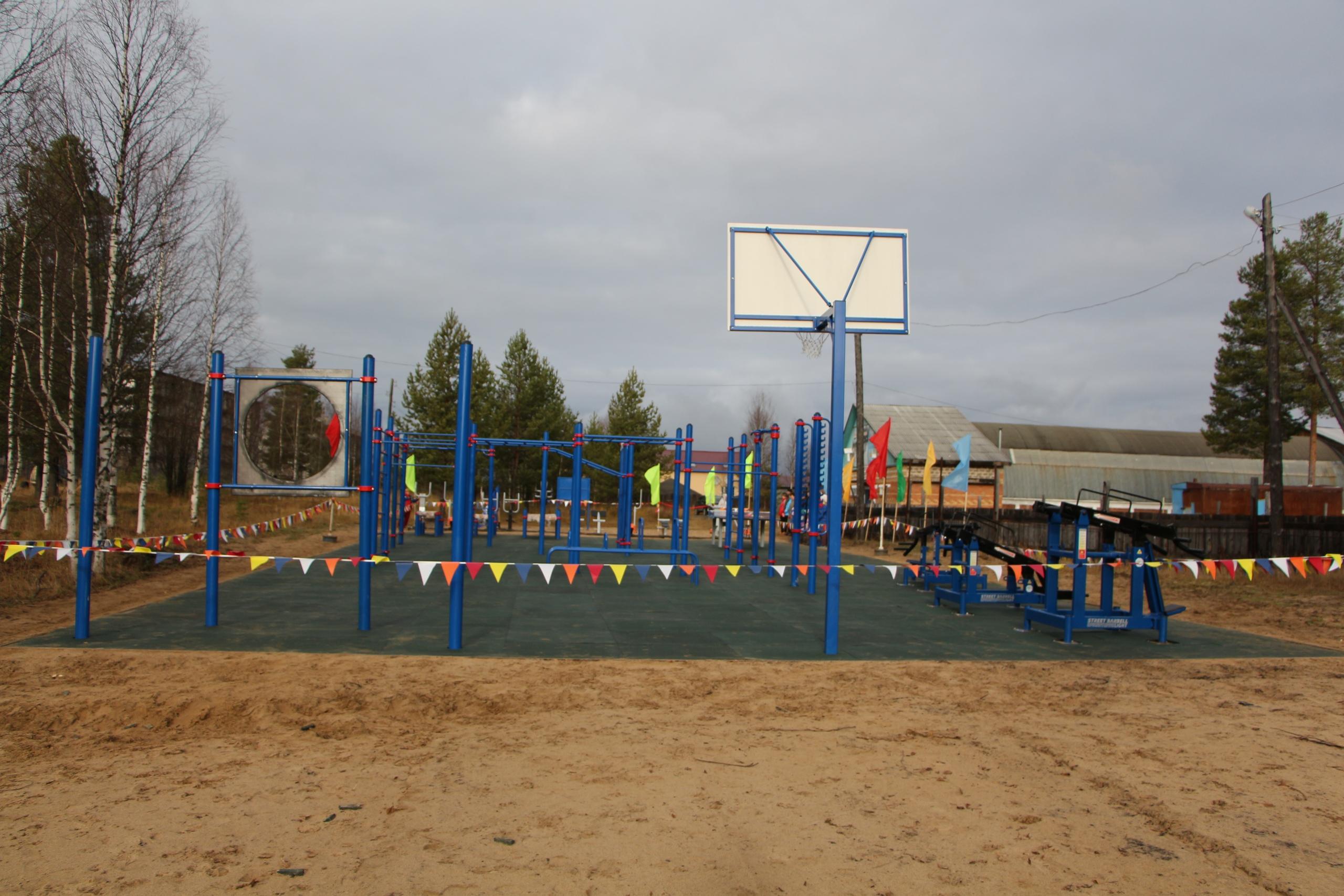 В рамках нацпроекта в Удорском районе открыли спортплощадку