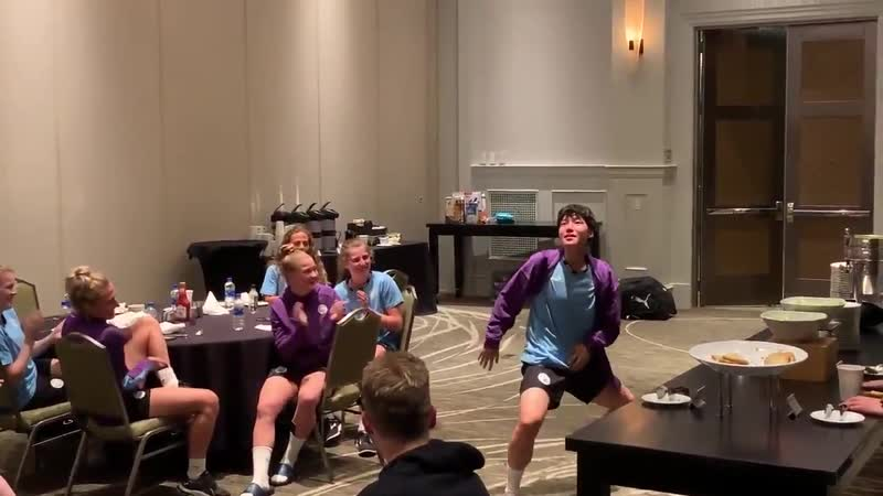 Throwing some shapes stateside! - - Lee Geum-Mins initiation dance was - - mancity