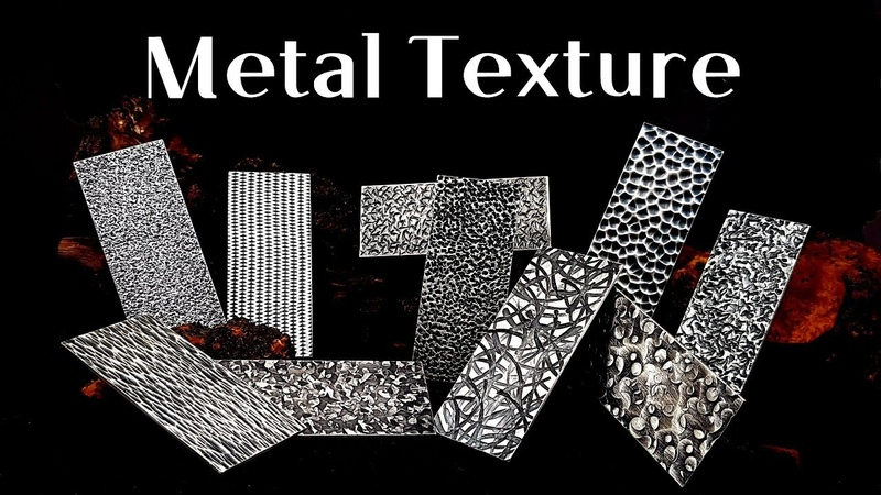 Making texture on silver plate / Texture Hammering