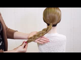 Ловите технику плетения плоской косы из 4х прядей. Просто и понятно