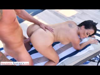 Reagan foxx - sharon fuller reagan foxx fucks by the pool - porno,  ball licking, big tits, deepthroat, mature, porn, порно