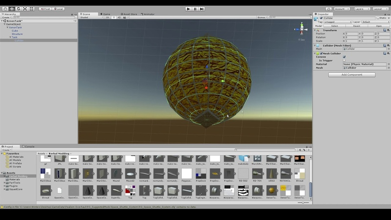 Blender and Unity Preparing a Simple Tank for Use in Kerbal Space Program