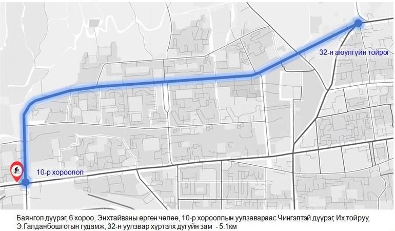 Улан-Батор получит восемь велодорожек