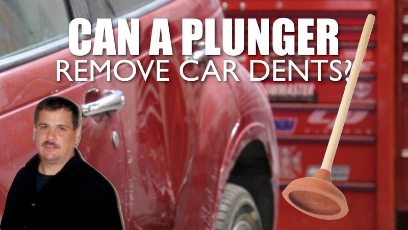 Pop Dent Out of a Car With Plunger