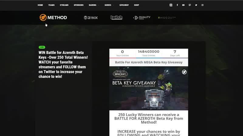 Раздача ключей Battle for Azeroth beta.mp4