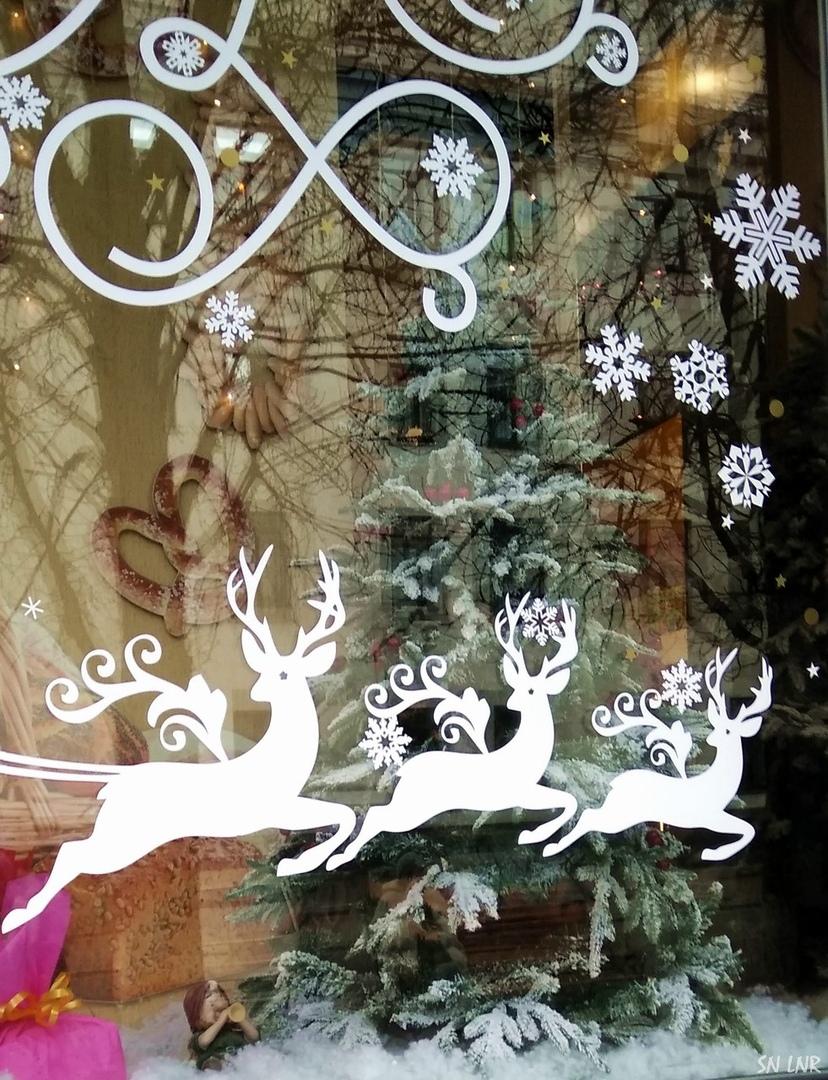 Новогодние витрины в Луганске
