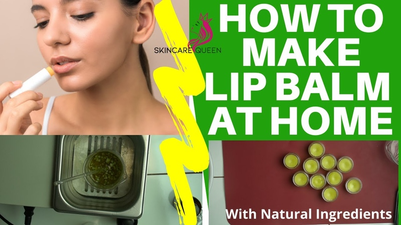 HOW TO MAKE LIP BALM AT HOME WITH NATURAL INGREDIENTS HOMEMADE LIP BALM WITH COCONUT OIL ✔️🍀