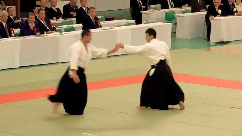 Aikido Kanazawa Takeshi Sensei Jiyu Waza