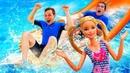 Видео для детей - Кукла Барби и Герои Акватим ищут Стима Смита! - Игрушки Бен 10 и Тоботы