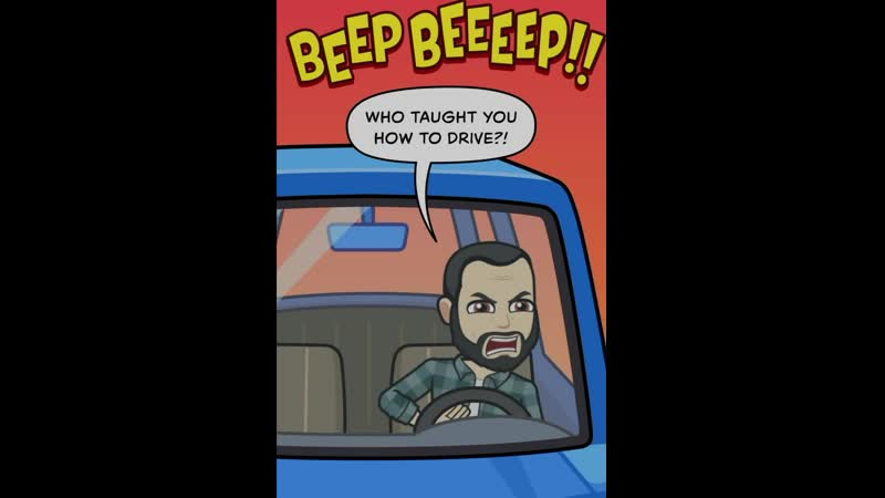 Бородач в машине ✌️😜 комикс борода бородач комикс вмашине автосалон