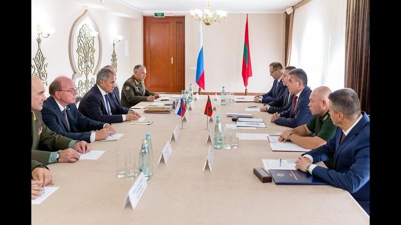Приднестровье посетила российская делегация во главе с Министром обороны РФ генералом армии С. Шойгу
