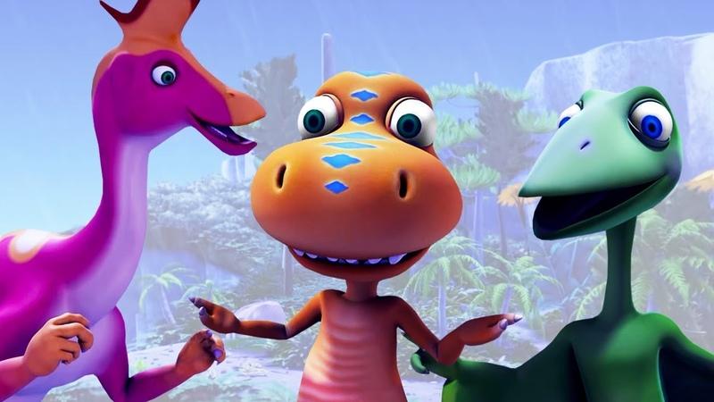 Мультфильм Поезд Динозавров для детей. Ураган на террасе Птеранодонов