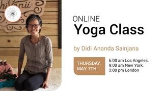 Online yoga class by Didi Ananda Sainjana