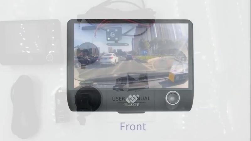 Видеорегистратор для автомобиля с 3 видеокамерами и монитором 4 дюйма с алиэкспресс