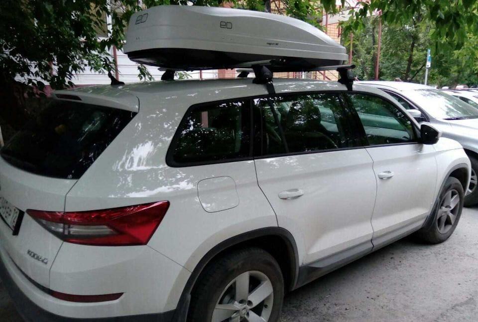 Багажник на крышу Шкода Кадиак 1 поколение [2017-2018] кроссовер без рейлингов
