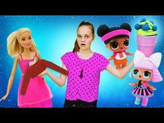 Лучшие Подружки    Весёлые игры для девочек - Помогаем Барби и куклам Лол! - Сборник видео шоу Будет исполнено.
