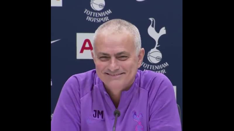 Jose Mourinhos press conference was interrupted by some excited young Spurs fans