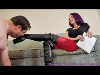 Brat princess  valora ballbusting coach( slave,femdom,mistress,leather fetish,allbusting,leather boots)
