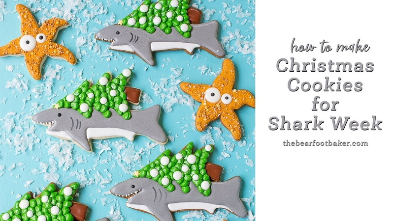 How to Make Christmas Cookies for Shark Week | The Bearfoot Baker