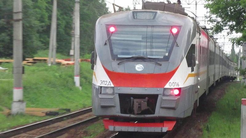 Электропоезд ЭП2Д 0016 ЦППК платформа Кокошкино 22 06 2019