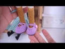 How to crochet doll shoes and blouse doll outfit