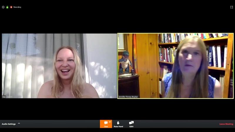 Sia live with Jennifer Finney Boylan on Zoom 04 21 2020
