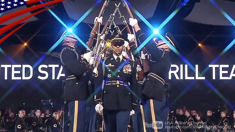 U.S. Army Drill Team Awesome Performs - Celebrating America's Army