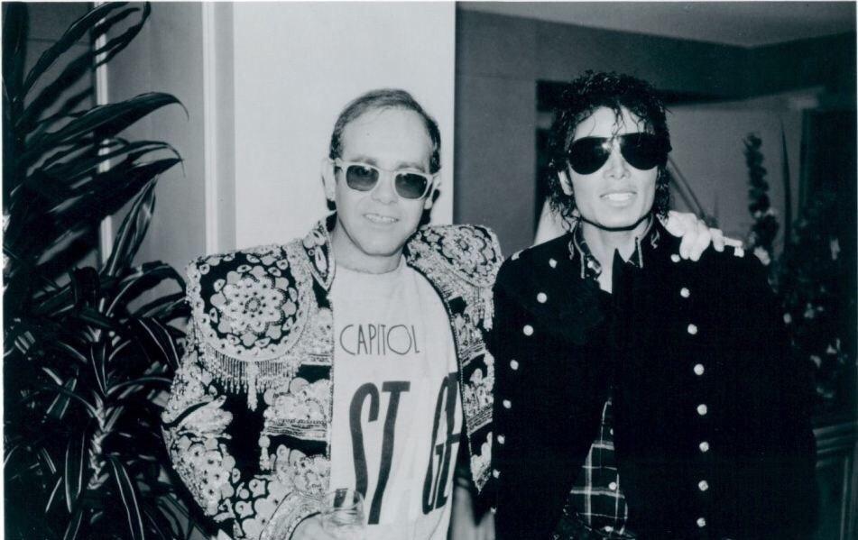 Elton John Michael Jackson 1984 capitol