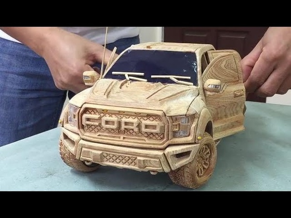 Wood Carving Ford F150 RAPTOR 2020 Woodworking Art part 2