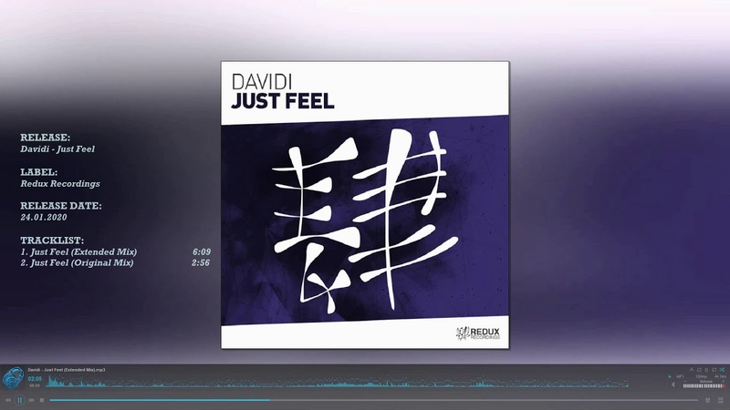DAvIDI Just Feel Extended Mix Redux Recordings