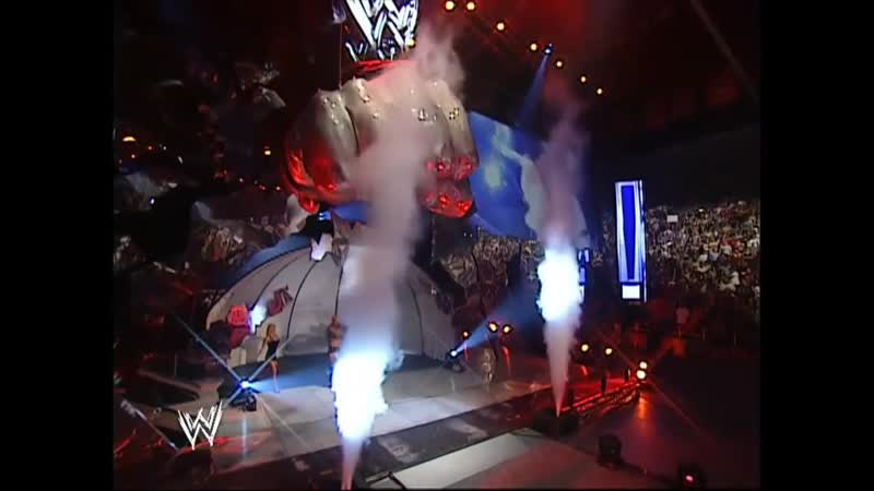 WWE Smackdown 28th August 2003 Sable ringside with A-Train
