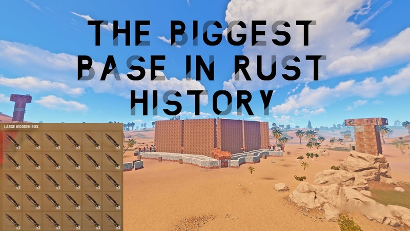 BIGGEST BASE IN RUST HISTORY My friends and I found this base and decided to raid it