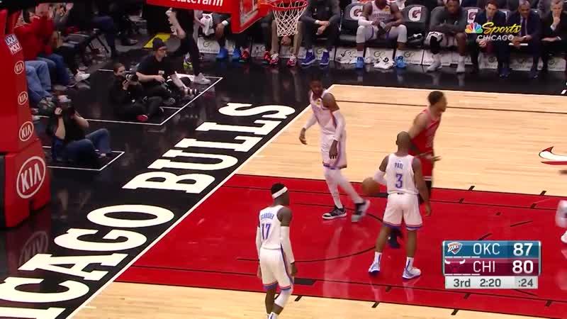 Coby White 3-pointers in Chicago Bulls vs. Oklahoma City Thunder